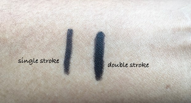 PAC Intense Duo Eyeliner Pencil Review Swatches on hand