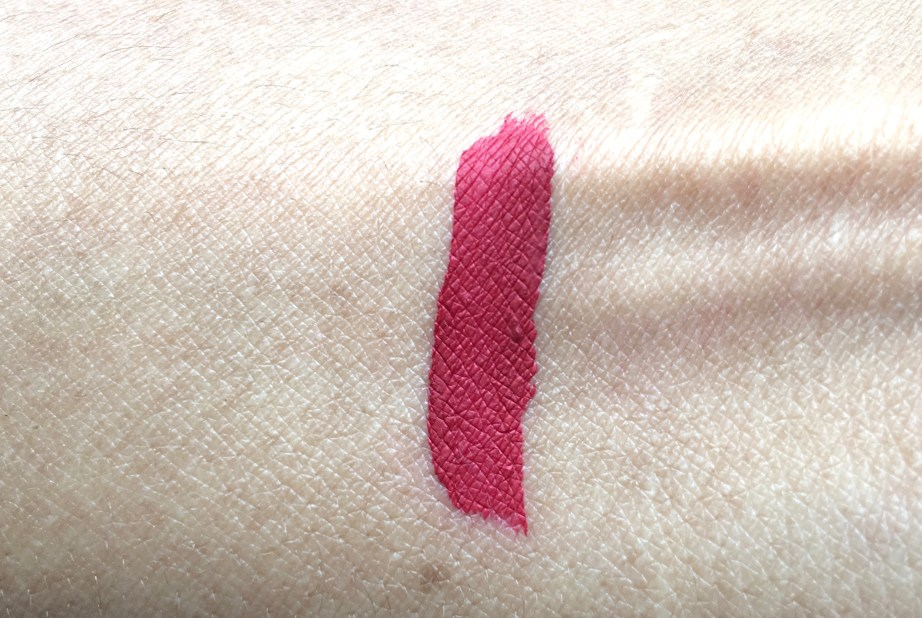 Stila Stay All Day Liquid Lipstick Fiery Review Swatches on hand