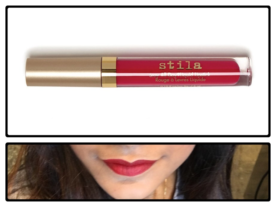 Stila Stay All Day Liquid Lipstick Fiery Review Swatches