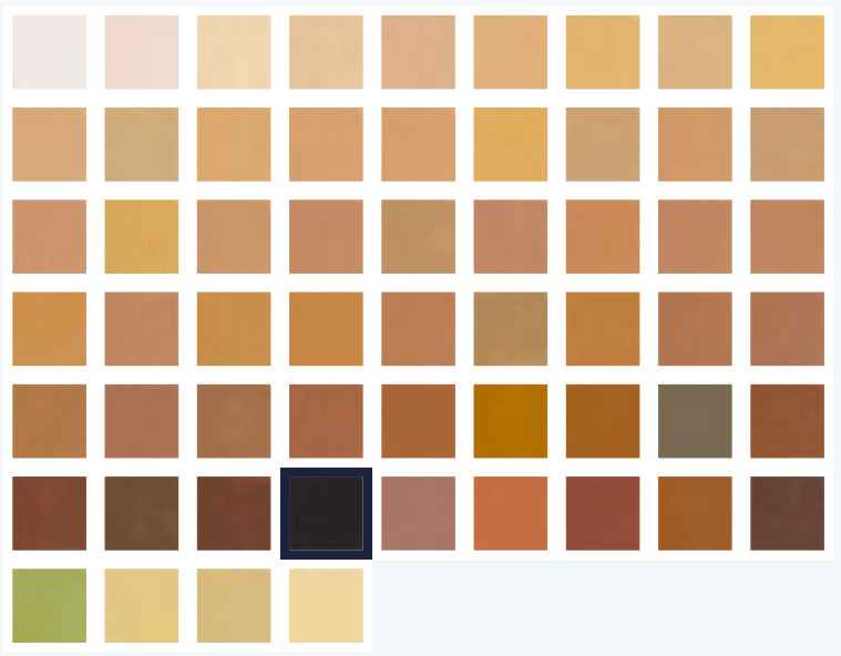 All Kryolan Derma Color Camouflage Crème Shades