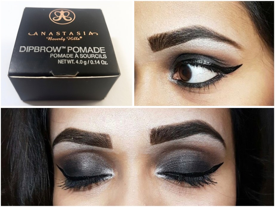 Anastasia Beverly Hills Dipbrow Pomade Review Swatches on eye brows makeup look mbf