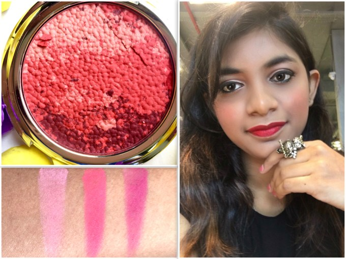 Colorbar Luminous Rouge Blush Luminous Rose Review Swatches Makeup Look