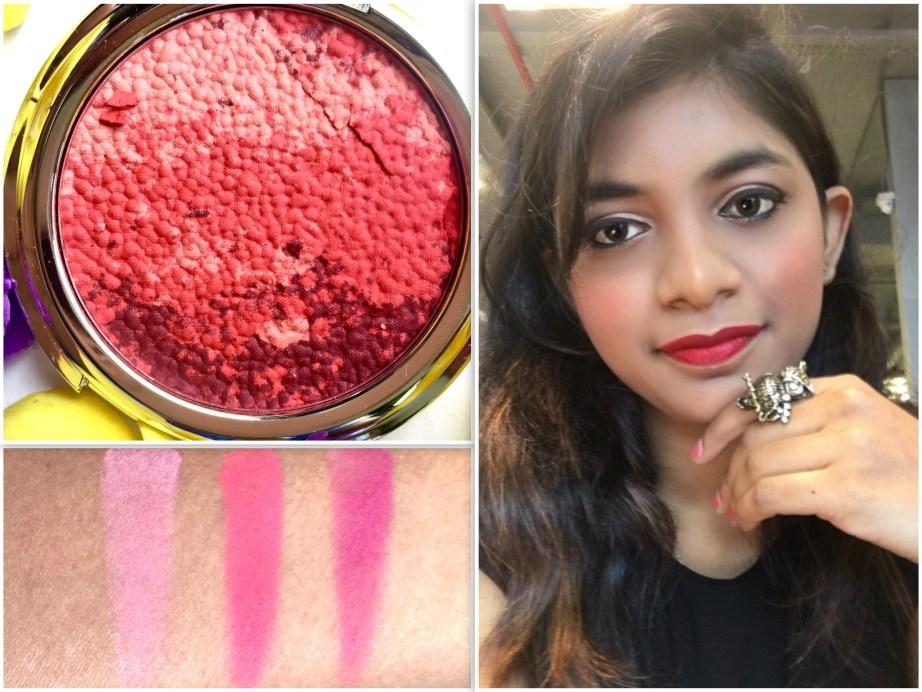 Colorbar Luminous Rouge Blush Luminous Rose Review Swatches Makeup Look
