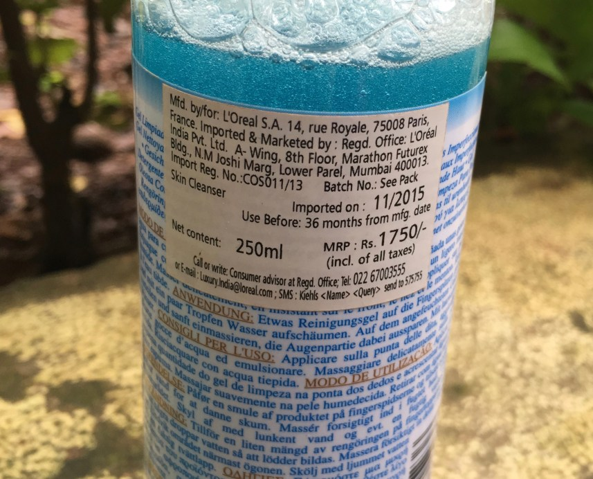 Kiehl's Blue Herbal Gel Cleanser Review price