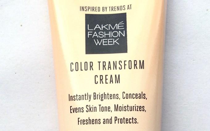 Lakme 9 To 5 Color Transform CC Cream Review fashion week