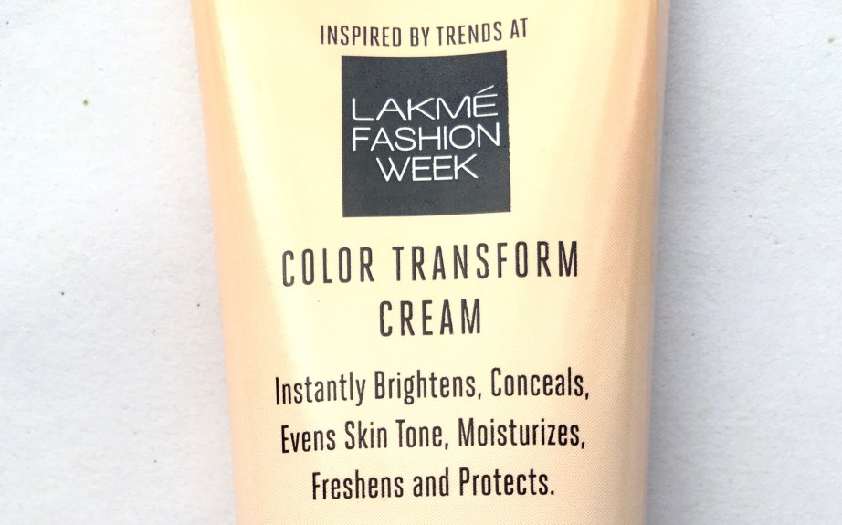 Lakme 9 To 5 Color Transform CC Cream Review fashion week