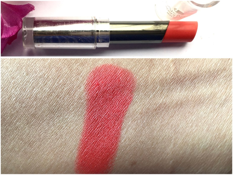 Lakme Absolute Sculpt Matte Lipstick Coral Flare Review Swatches on hand