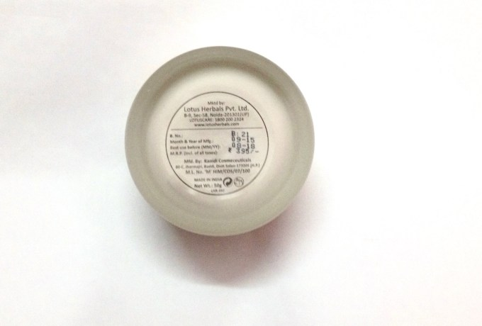 Lotus Herbals Nutramoist Skin Renewal Daily Moisturising Creme SPF 25 Review mbf