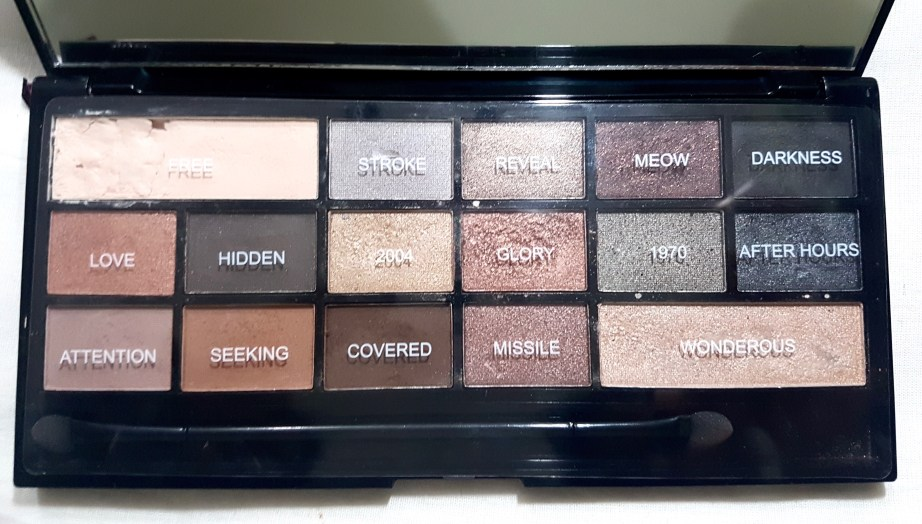 Makeup Revolution I Heart Makeup Naked Underneath Eyeshadow Palette Review Swatches near