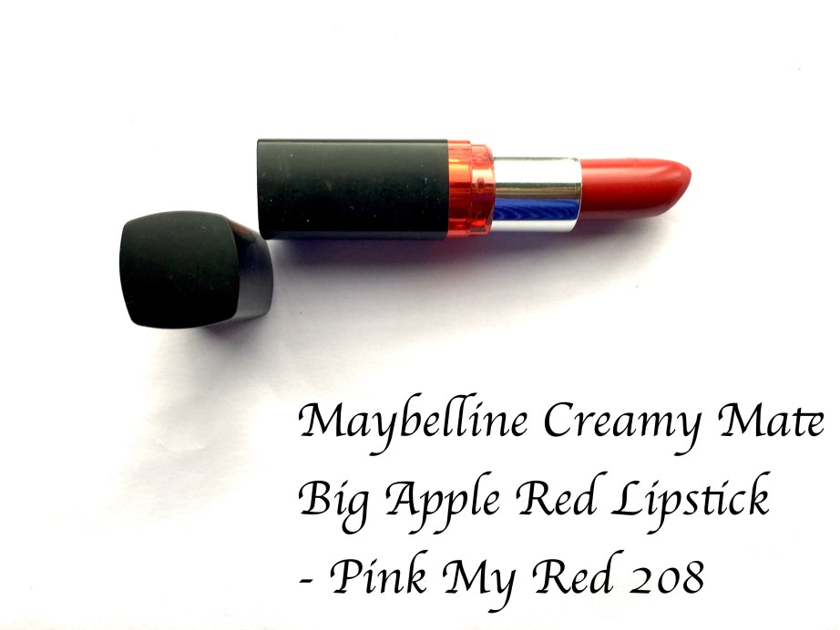 all Maybelline Color Show Big Apple Red Creamy Matte Lipstick Pink My Red Review swatches mbf