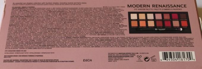 Anastasia Beverly Hills Modern Renaissance Palette Review Swatches info