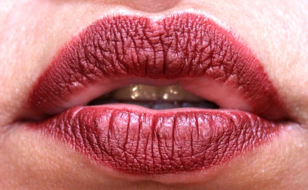 Dose of Colors Matte Liquid Lipstick Brick Review Swatches after 5 hours