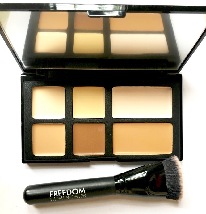 Freedom Pro Cream Strobe Palette with Brush Review Swatches mbf