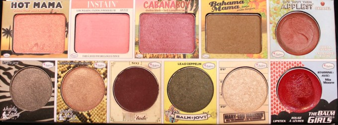 In the Balm of Your Hand Palette Review Swatches all blushes highlighter lipstick lip stain