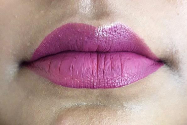 Jordana Sweet Cream Matte Liquid Lipstick Sugared Plum Review Swatches purple lips