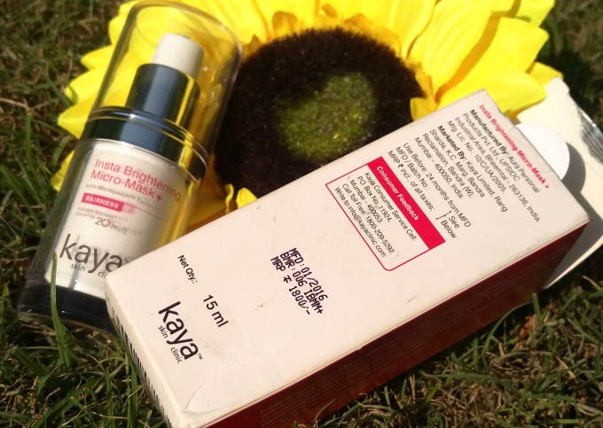 Kaya Insta Brightening Micro Mask Review Swatches Price