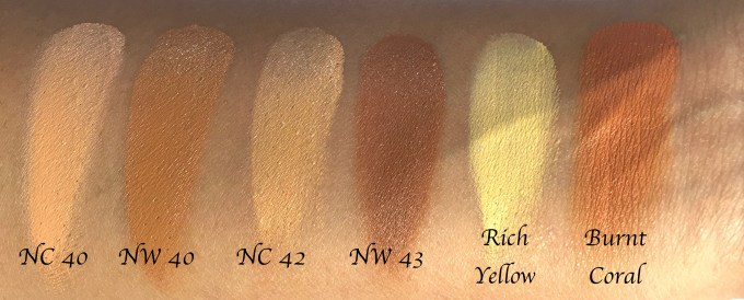 mac-conceal-correct-palette-medium-deep-review-swatches-nc-40-nc-42-nw-40-nw-43-rich-yellow-burnt-coral