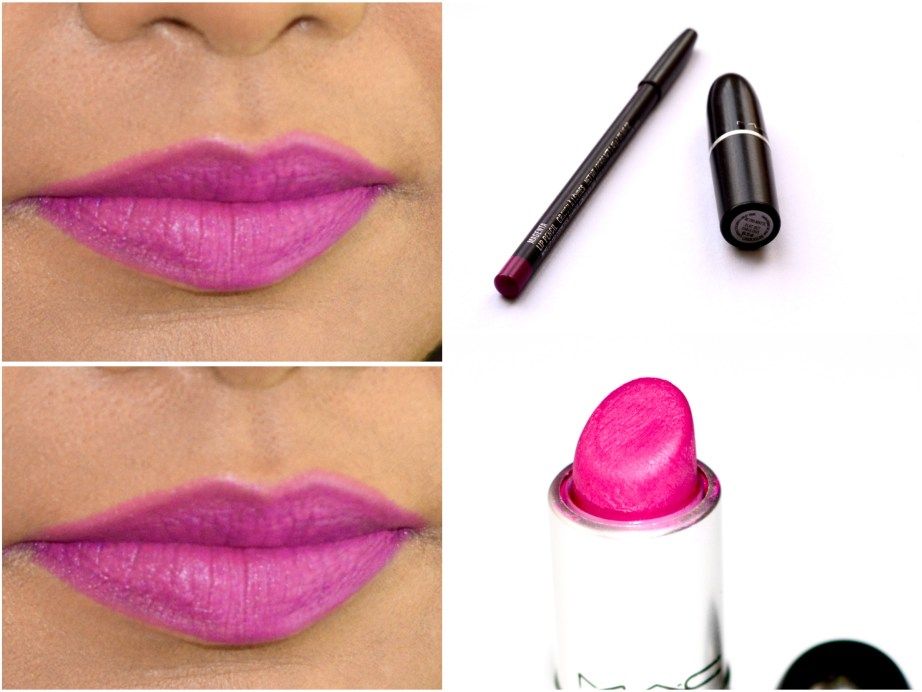 MAC Flat Out Fabulous Retro Matte Lipstick Review Swatches on lips