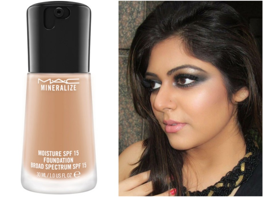 MAC Mineralize Moisture SPF 15 Foundation Review Swatches Makeup