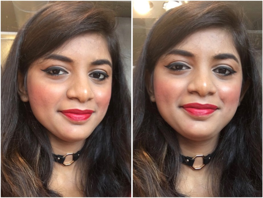 Sugar Its A Pout Time Vivid Lipstick That 70s Red Review Swatches MBF Makeup Look