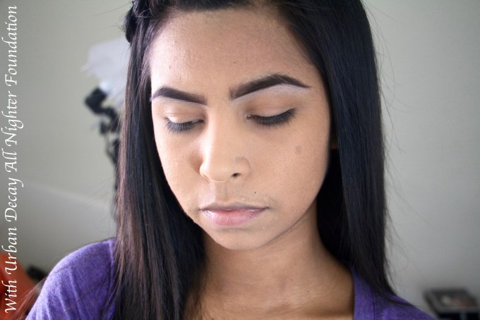 Urban Decay All Nighter Liquid Foundation Review Swatches Demo With Foundation