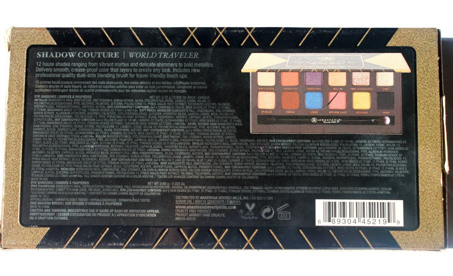 Anastasia Shadow Couture World Traveler EyeShadow Palette Review Swatches Info