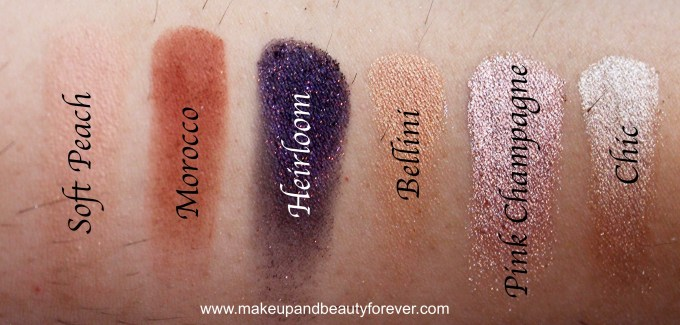 Anastasia Shadow Couture World Traveler EyeShadow Palette Review Swatches Soft Peach Morocco Heirloom Bellini Pink Champagne Chic