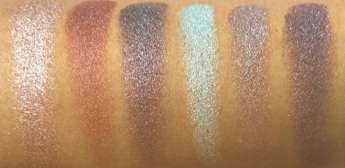 BH Cosmetics Galaxy Chic Baked Eyeshadow Palette Review Swatches Mercury Mars Asteroid Electra Moon Pluto finger swatch