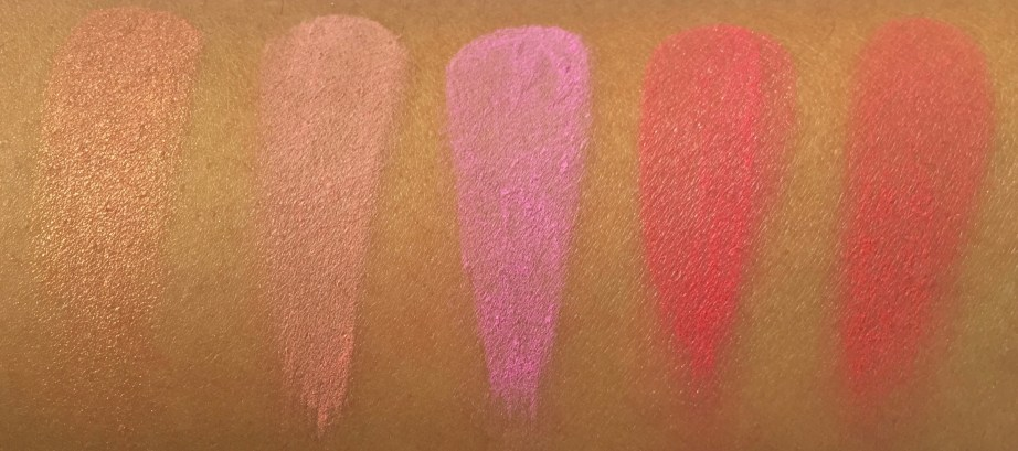 BH Cosmetics Glamorous Blush 10 Color Palette Review Swatches 2nd Row