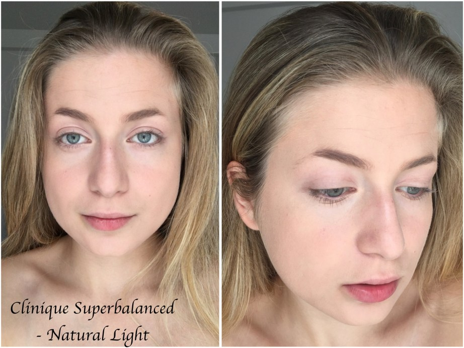 Clinique Superbalanced Makeup Foundation Review Swatches Demo Natural Light