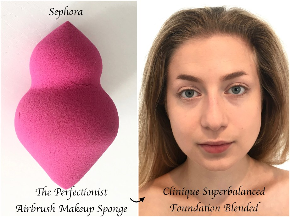 Clinique Superbalanced Makeup Foundation Review Swatches Demo Sephora Perfectionist Airbrush Makeup Sponge Beauty Blender