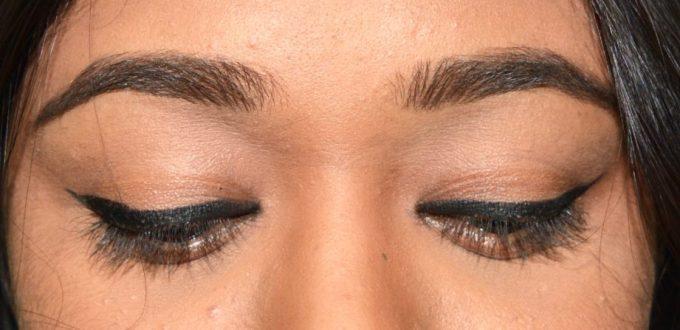 Inglot AMC Eyeliner Gel 77 Matte Black Review Swatches on Eyes