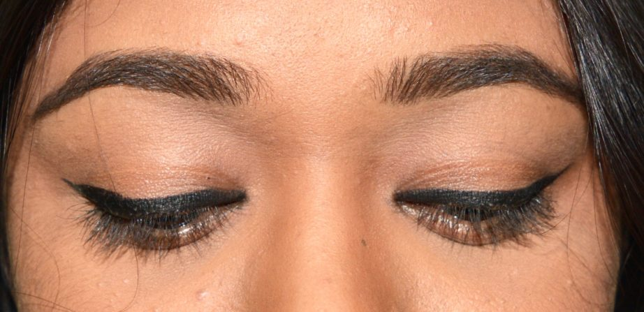 Inglot AMC Eyeliner Gel 77 Matte Black Review Swatches on Eyes