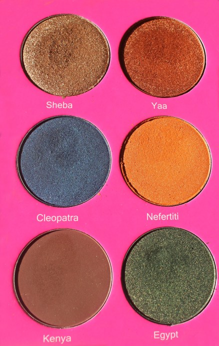 Juvia's Place Nubian 2 Yellow Eye Shadow Palette Review Swatches Morocco Madagascar Sheba Yaa Jezebel Suri Cleopatra Nefertiti Nairobi Leyla Kenya Egypt 2
