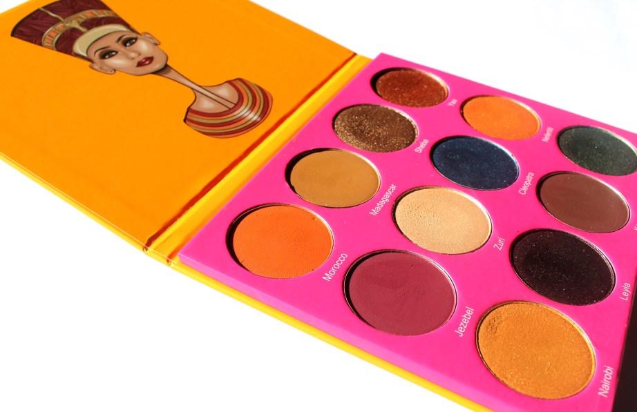 Juvia's Place Nubian 2 Yellow Eye Shadow Palette Review Swatches Morocco Madagascar Sheba Yaa Jezebel Suri Cleopatra Nefertiti Nairobi Leyla Kenya Egypt Focus MBF Blog