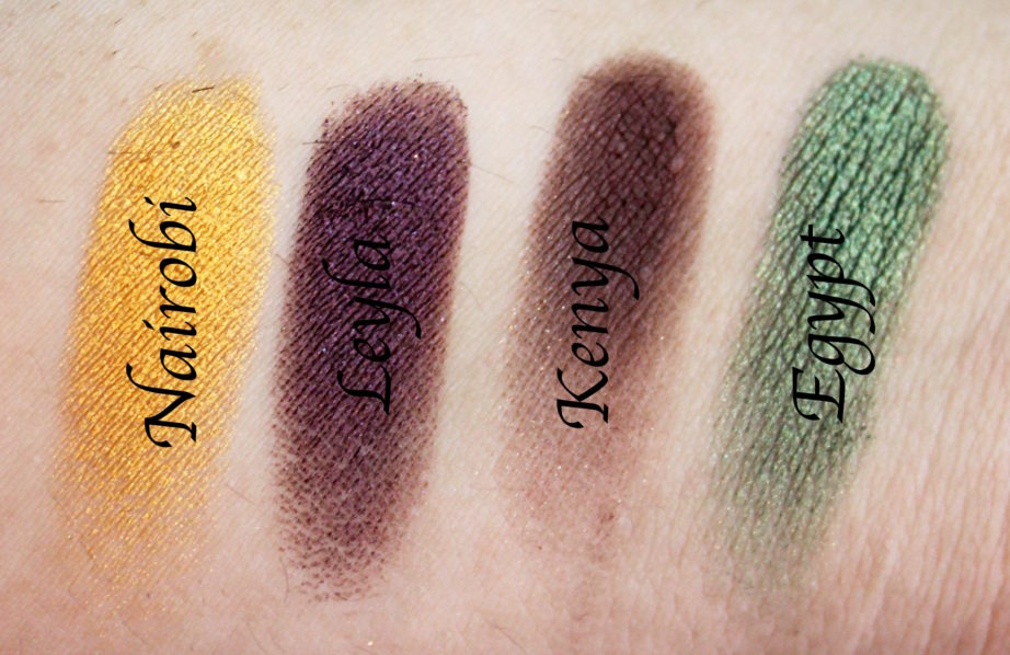 Juvia's Place Nubian 2 Yellow Eye Shadow Palette Review Swatches Nairobi Leyla Kenya Egypt Focus