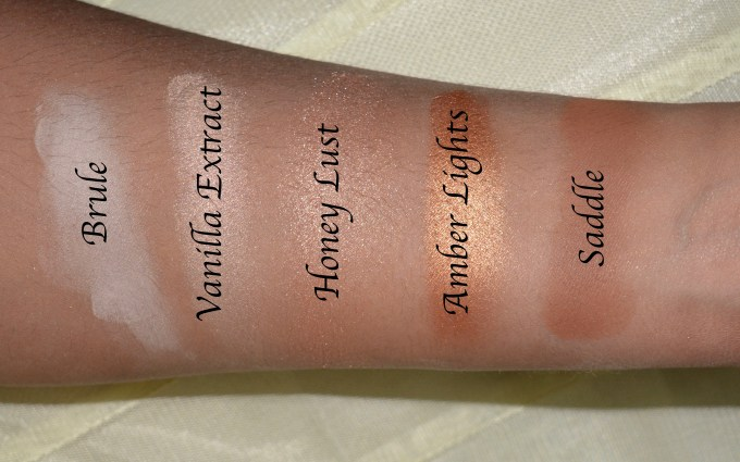 MAC Eyeshadow x 15 Warm Neutral Palette Review Swatches Brule Vanilla Extract Honey Lust Amber Lights Saddle 2nd Row
