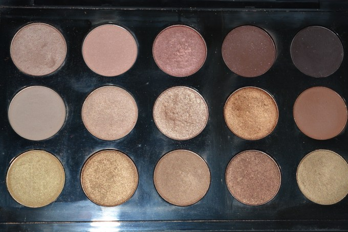 MAC Eyeshadow x 15 Warm Neutral Palette Review Swatches Near Focus