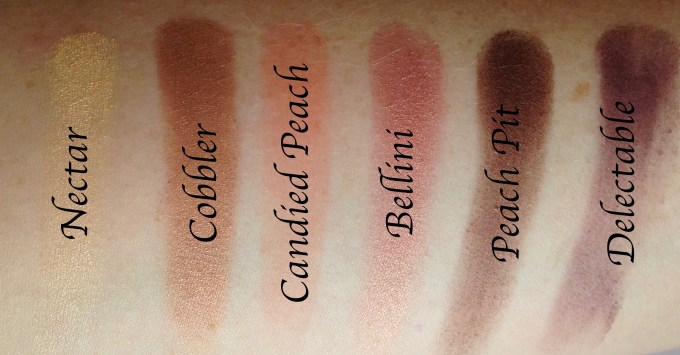Too Faced Sweet Peach Eyeshadow Palette Review Swatches Row 2 MBF