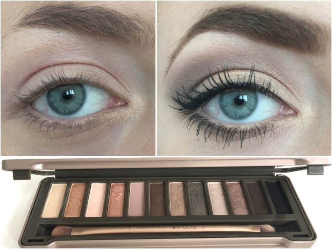 Urban Decay Naked 2 Eyeshadow Palette Eye Makeup on MBF Blog Before After