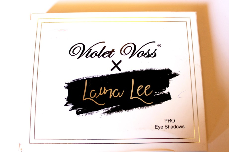 Violet Voss x Laura Lee Eye Shadow Palette Review Swatches box front