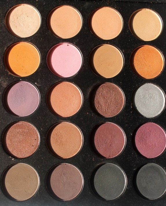 Morphe 35W 35 Color Warm Palette Review Swatches Right Half