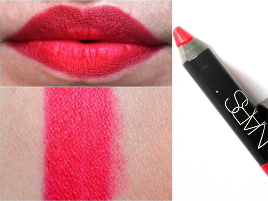 NARS Dragon Girl Velvet Matte Lip Pencil Review Swatches Blog