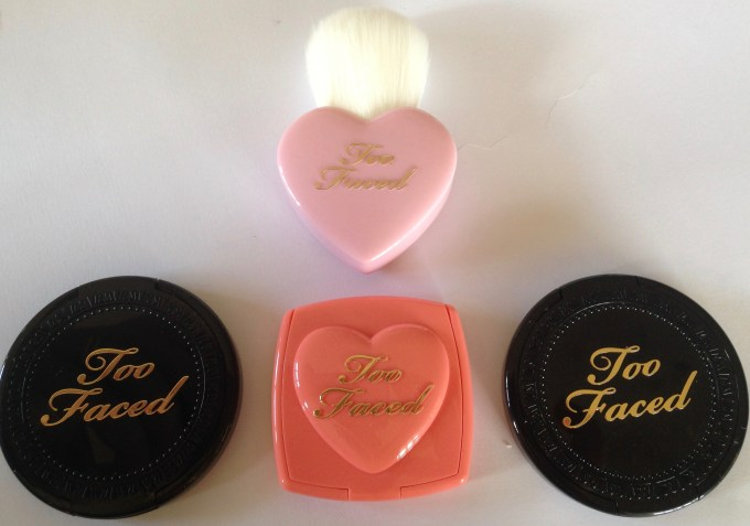 Too Faced Let It Glow Highlight and Blush Kit Review Swatch MBF
