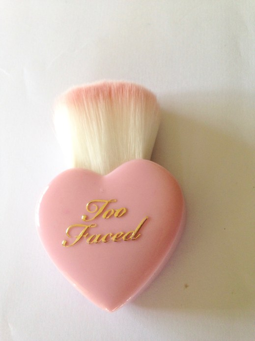 Too Faced Let It Glow Highlight and Blush Kit Review Swatches brush