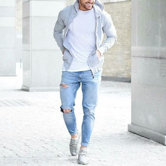 ripped-jeans-with-tshirt-hoodie