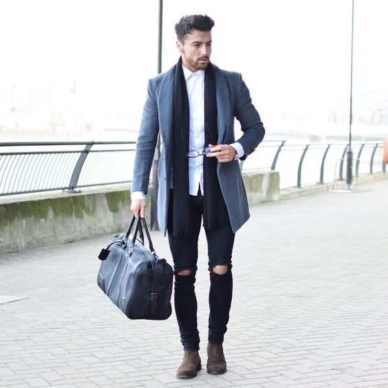 ripped-jeans-work-formal-shirt-office-winter