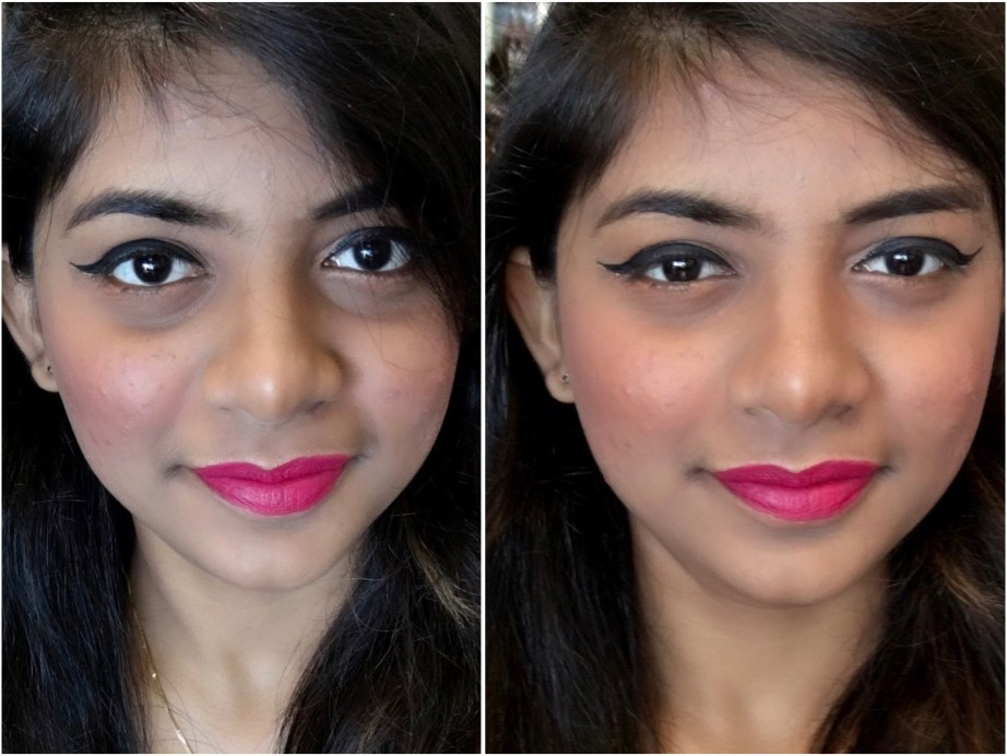 Lakme Absolute Illuminating Blush Shimmer Brick Coral Review Swatches MBF Makeup Look