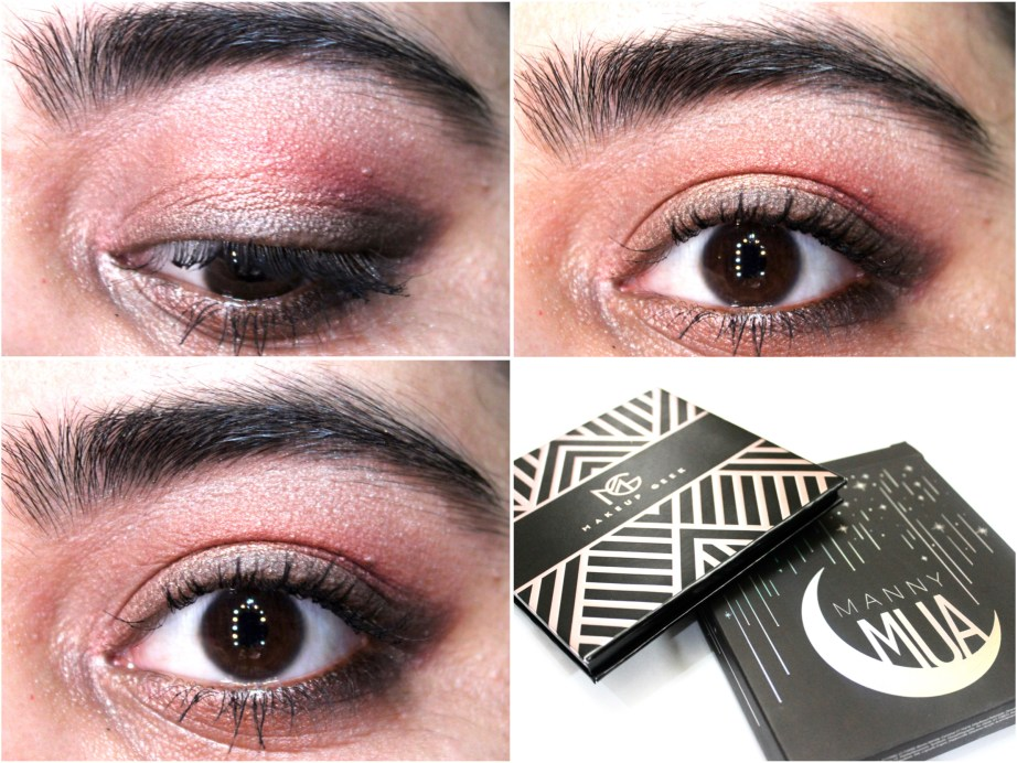 Makeup Geek Manny Mua Eyeshadow Palette Review Swatches MBF Eye Makeup Look