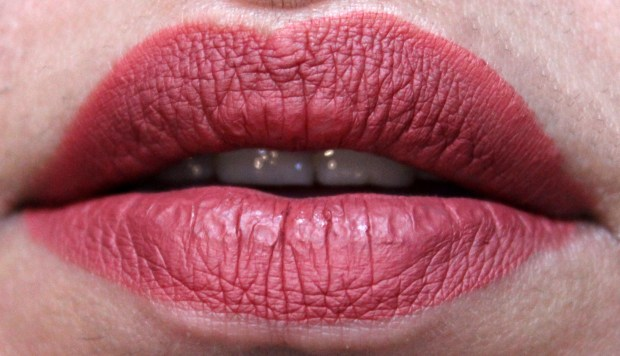 NYX Lip Lingerie Liquid Lipstick Exotic Review Lip Swatches Neutral Pink Dusty Rose